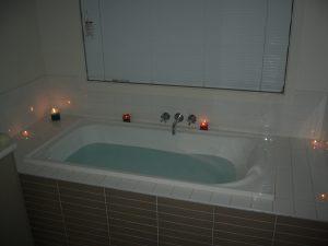 eu amo velas para um banho